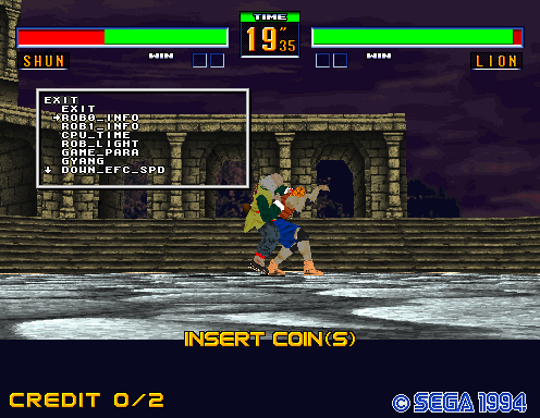 Debug tools in Virtua Fighter 2, Fighting Vipers and Sonic